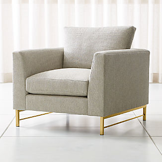 Tyson Chair with Brass Base