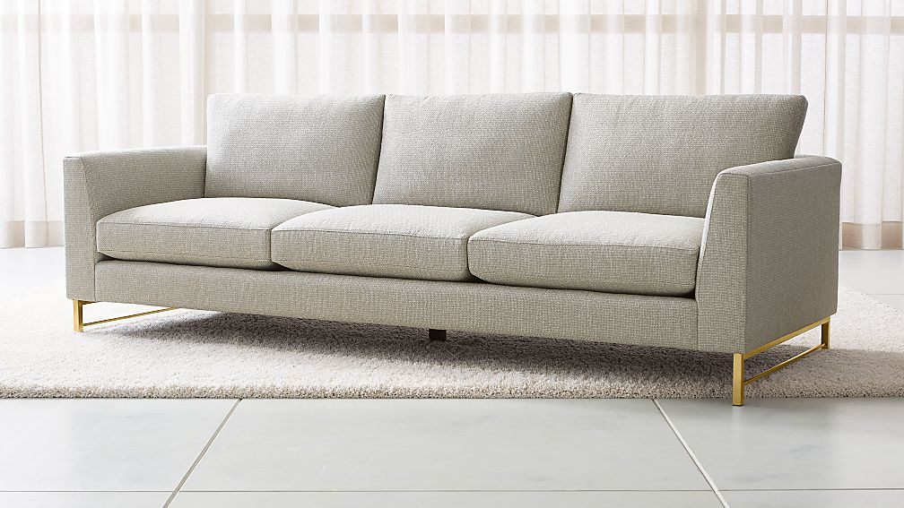 """Tyson 102"""" Grande Sofa with Brass Base - Image 1 of 6"""