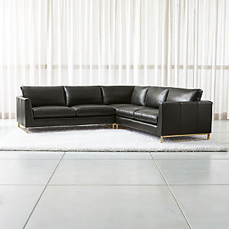 Leather Corner Sofas | Crate and Barrel