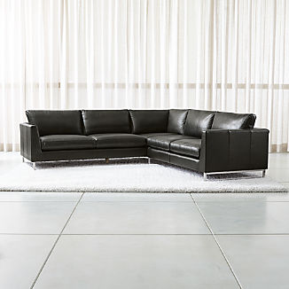 Leather Sectional Sofas: 100+ Options | Crate and Barrel