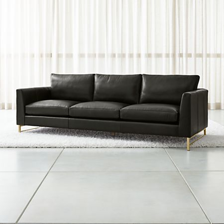 Tyson Leather 102 Grande Sofa With