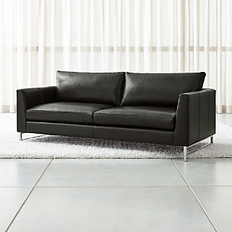 Leather Sofas & Chairs | Crate and Barrel