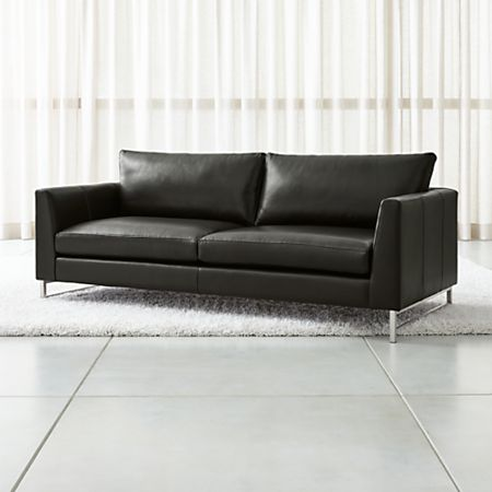 Fabulous Tyson Leather Sofa With Stainless Steel Base Gmtry Best Dining Table And Chair Ideas Images Gmtryco