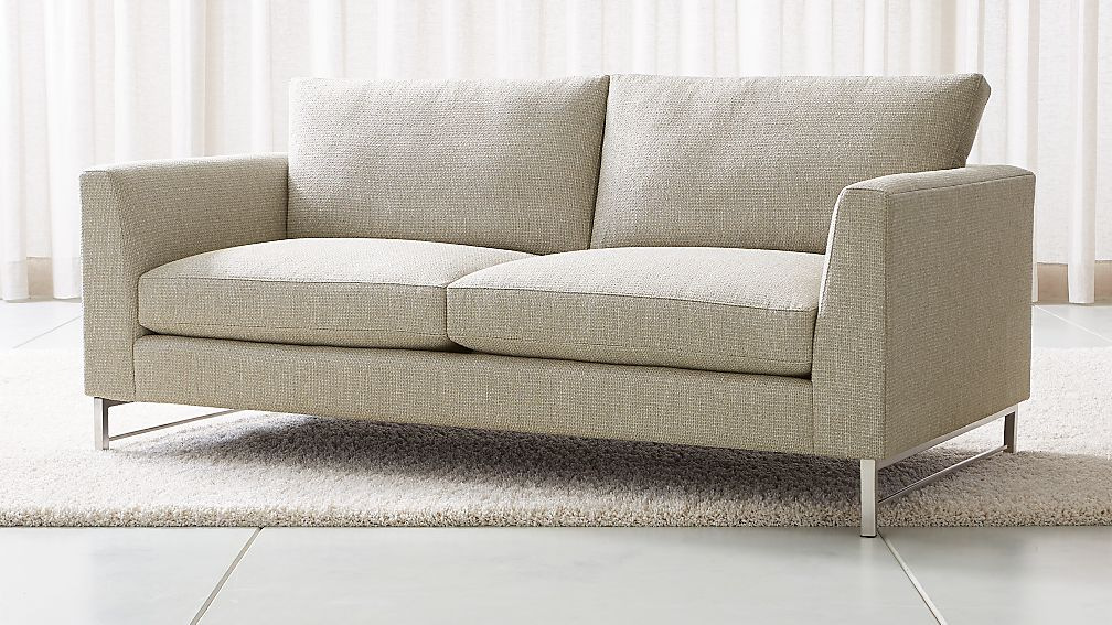 Tyson Apartment Sofa With Stainless Steel Base Reviews Crate And Barrel