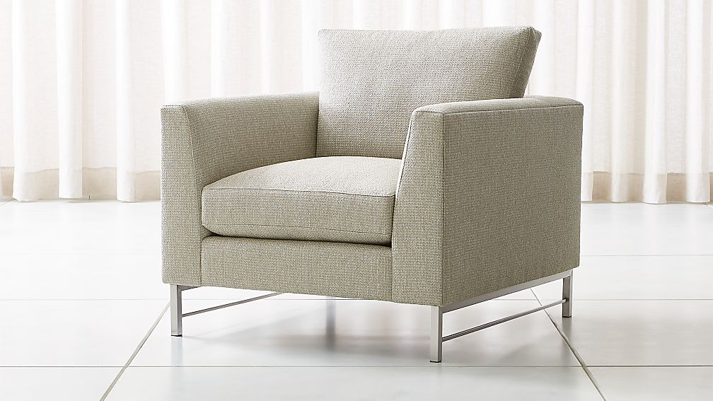 Tyson Chair with Stainless Steel Base - Image 1 of 5