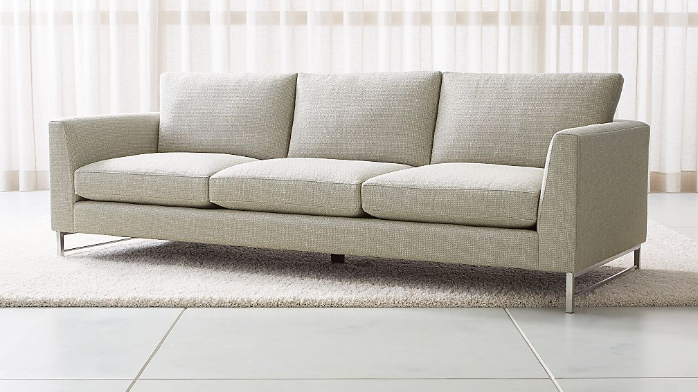 """Tyson 102"""" Grande Sofa with Stainless Steel Base - Image 1 of 5"""