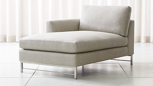 Amazing Tyson Left Arm Chaise With Stainless Steel Base Nice Look