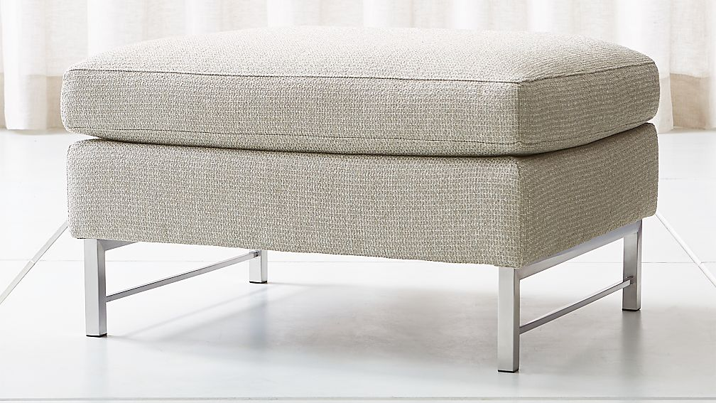 Tyson Ottoman with Stainless Steel Base - Image 1 of 5