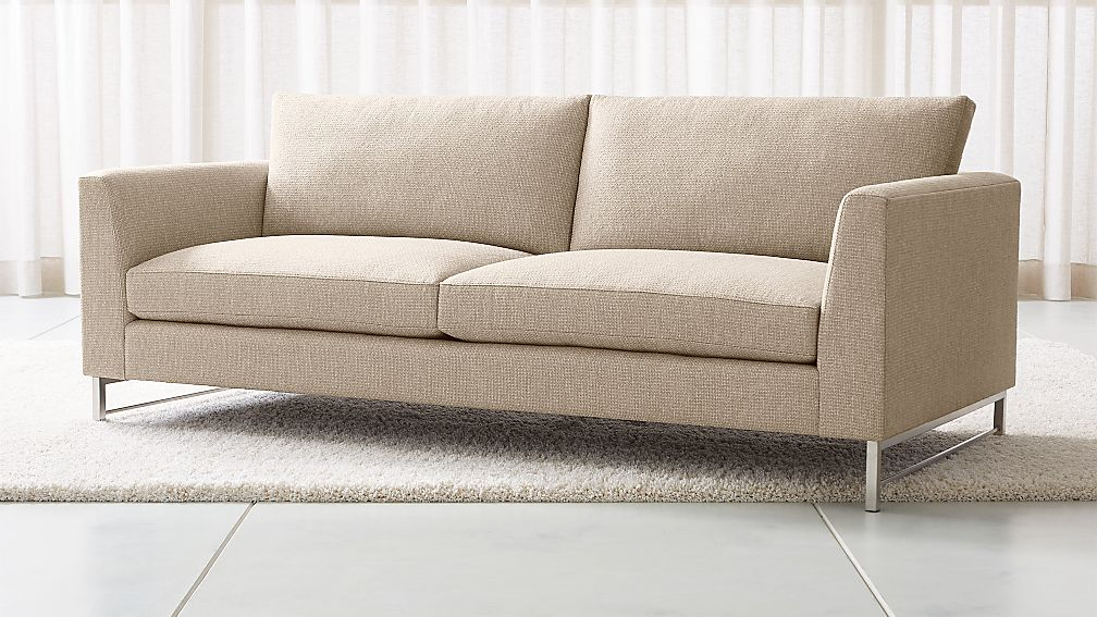 Tyson Sofa with Stainless Steel Base - Image 1 of 6