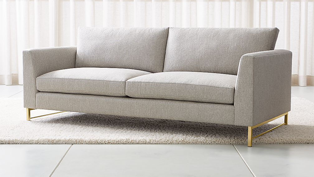 Tyson Sofa with Brass Base - Image 1 of 6