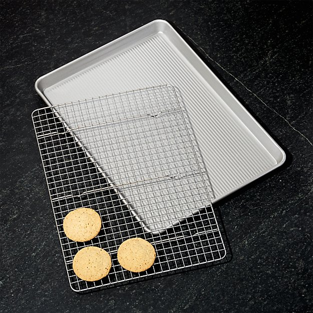 Usa Half Cookie Sheet With Cooling Rack Crate And Barrel
