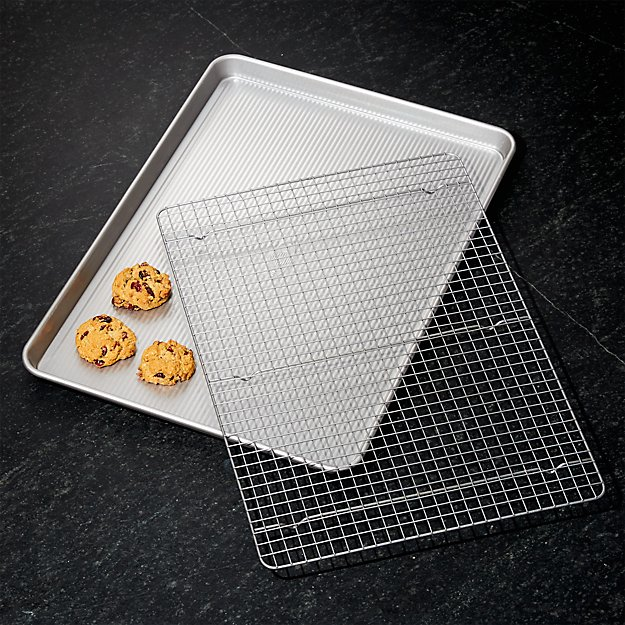Usa Large Cookie Sheet With Cooling Rack Reviews Crate