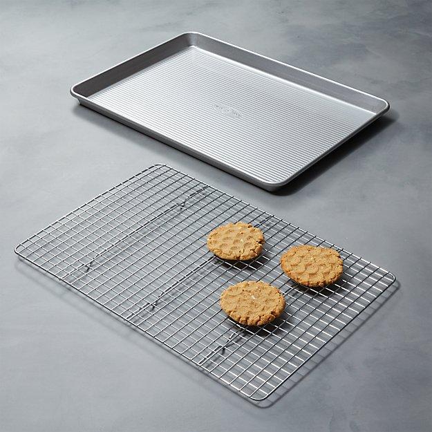 USA Pan Half Baking Sheet with Cooling Rack