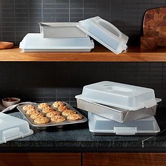 USA Pan 10-Piece Bakeware Set with Lids