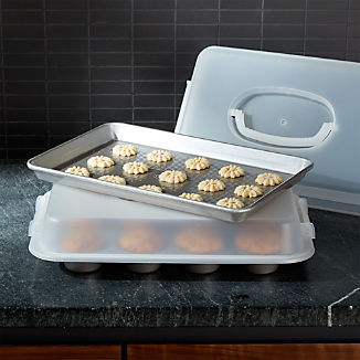 USA Pan 4-Piece Bakeware Set with Lids