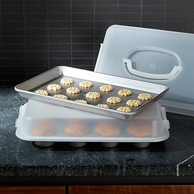 USA Pan 4-Piece Bakeware Set with Lids - Image 1 of 2