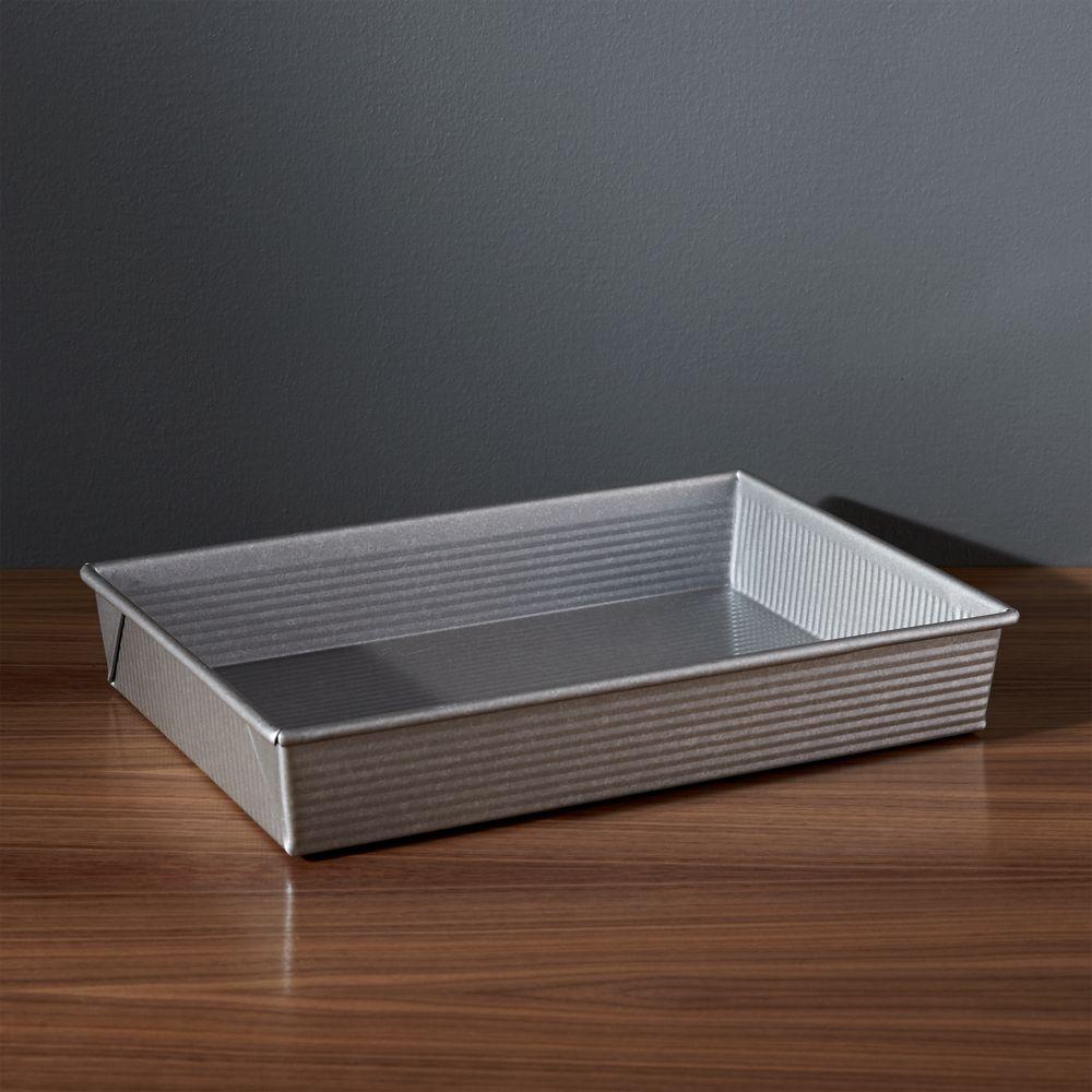 USA Pan Pro Line Non-Stick Rectangular Cake Pan - Crate and Barrel