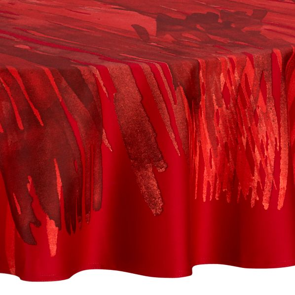 "Marimekko Ulappa Red 72"" Round Tablecloth"