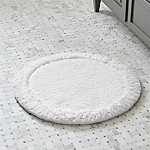 Ultra Spa White 24  Round Bath Rug