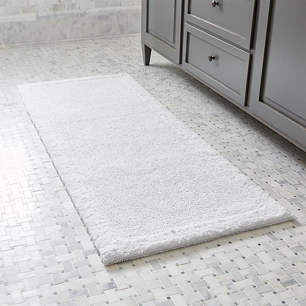 Ultra Spa White X Bath Rug Crate And Barrel - Bathroom rug runner for bathroom decorating ideas