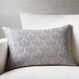 "Uma 22""x15"" Pillow with Down-Alternative Insert"