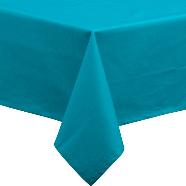 "Rectangular Teal 54""x120"" Umbrella Tablecloth"