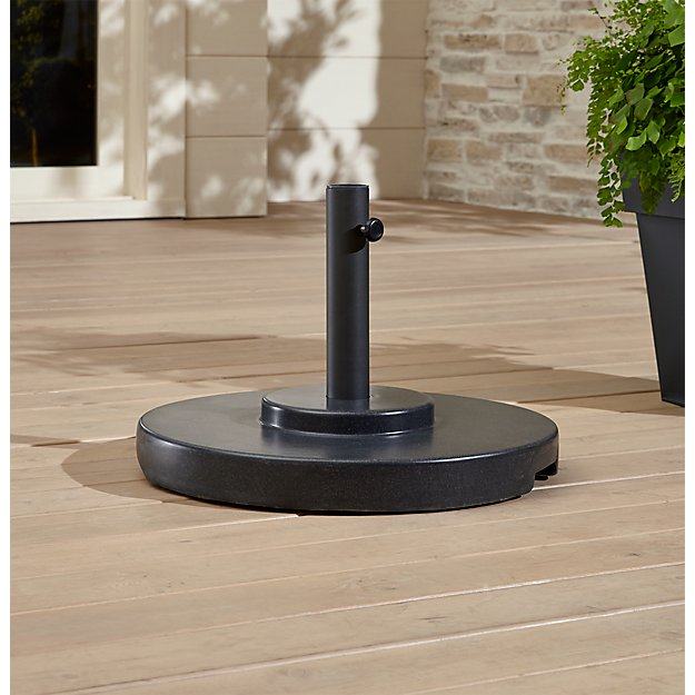 Large Charcoal Umbrella Stand with Wheels - Image 1 of 2