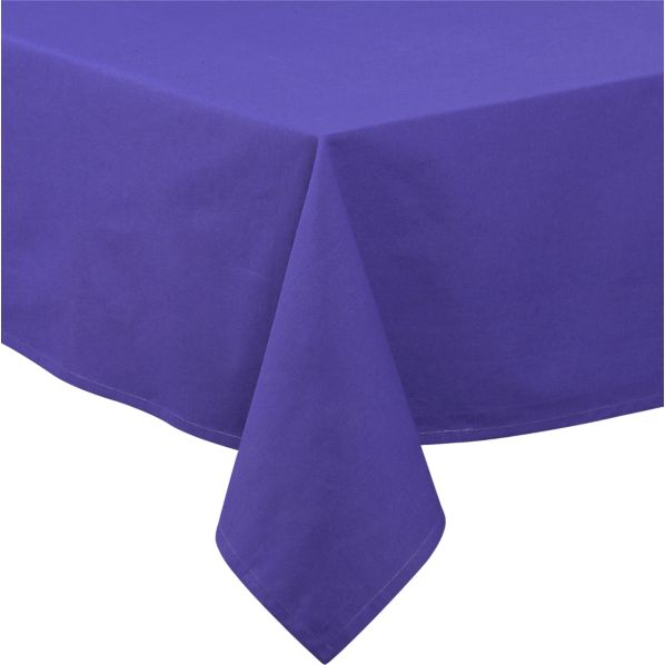 Blue Rectangular Umbrella Tablecloth