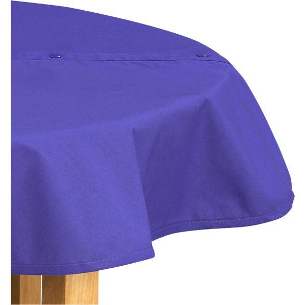Blue Round Umbrella Tablecloth