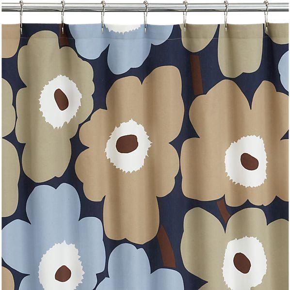 Marimekko Unikko Dusk Shower Curtain