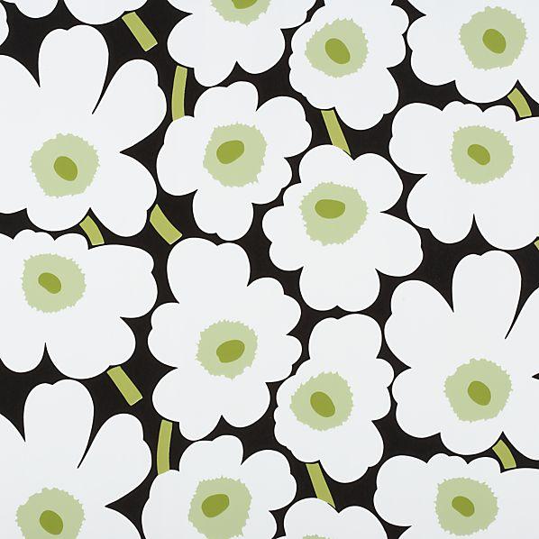 Marimekko Unikko Black and White Gift Wrap