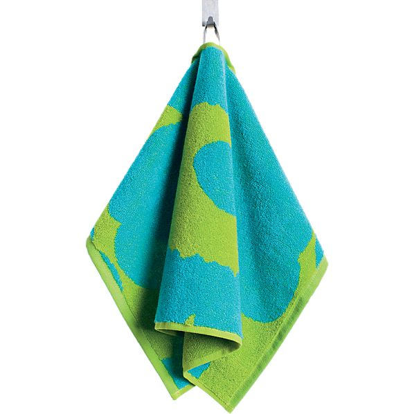 Turquoise and Lime Guest Towel