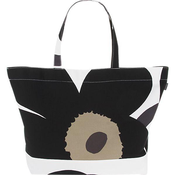 Marimekko Pieni Unikko Black and White Bag