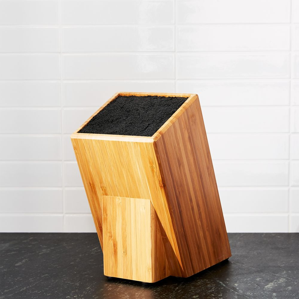 Universal Bamboo Knife Block - Crate and Barrel