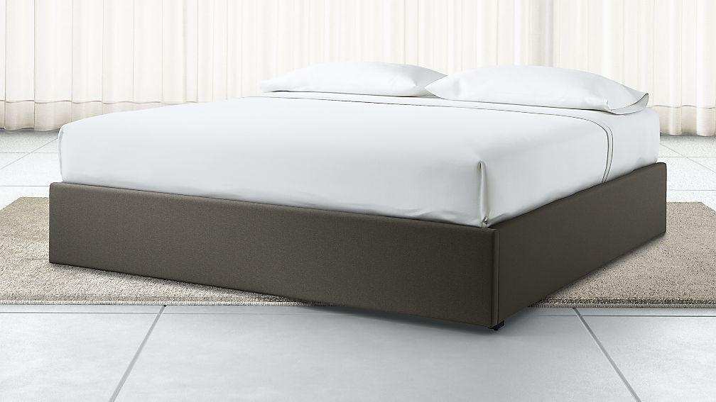 King Upholstered Gas-Lift Storage Bed Base Carbon - Image 1 of 6