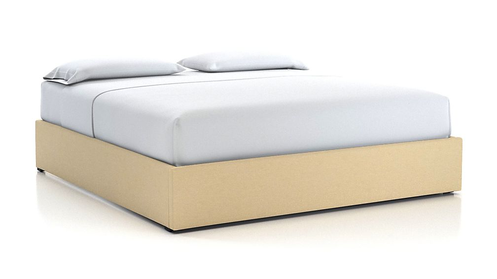 King Upholstered Gas-Lift Storage Bed Base Chalk - Image 1 of 5