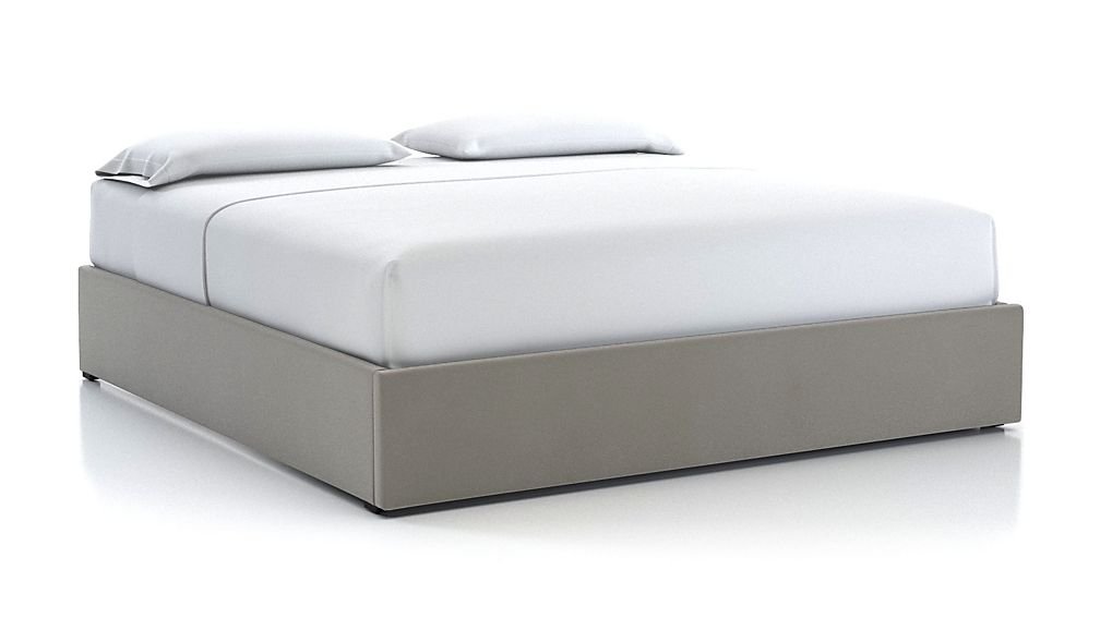 King Upholstered Gas-Lift Storage Bed Base Dove - Image 1 of 5