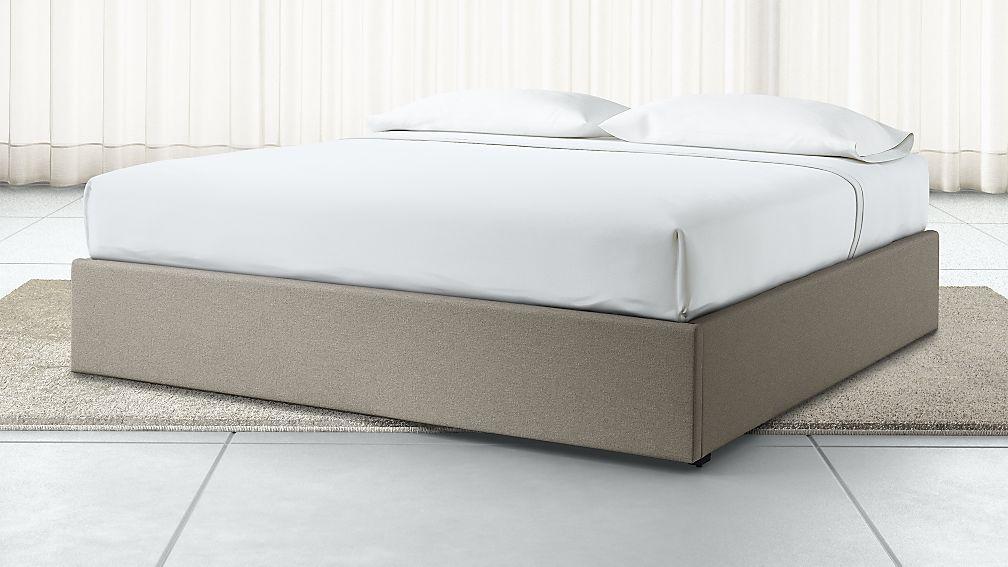 King Upholstered Gas-Lift Storage Bed Base Grey - Image 1 of 6