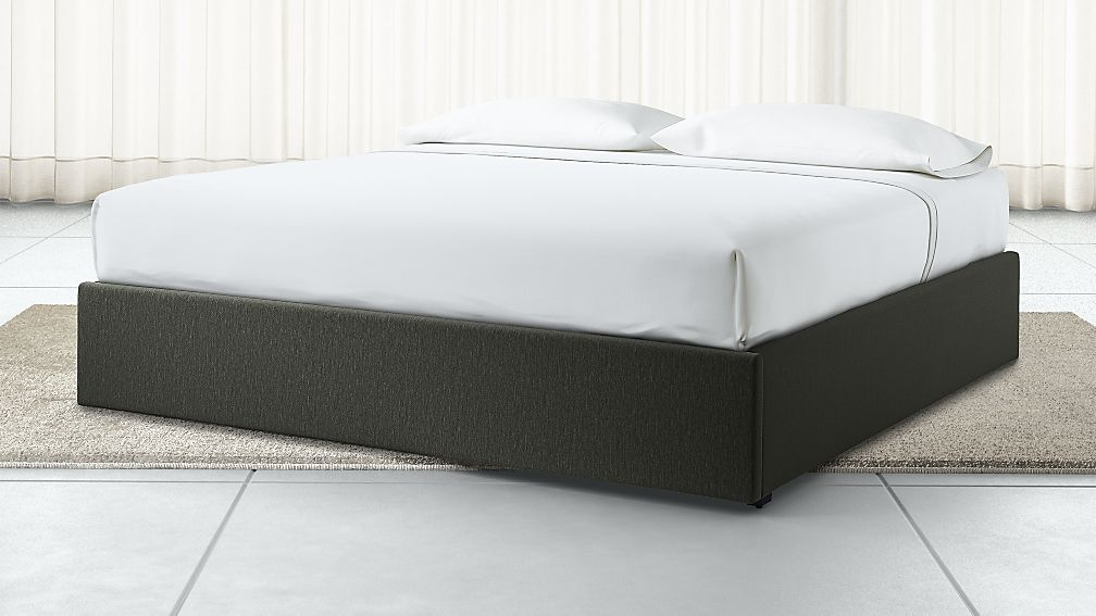 King Upholstered Gas-Lift Storage Bed Base Fog - Image 1 of 6