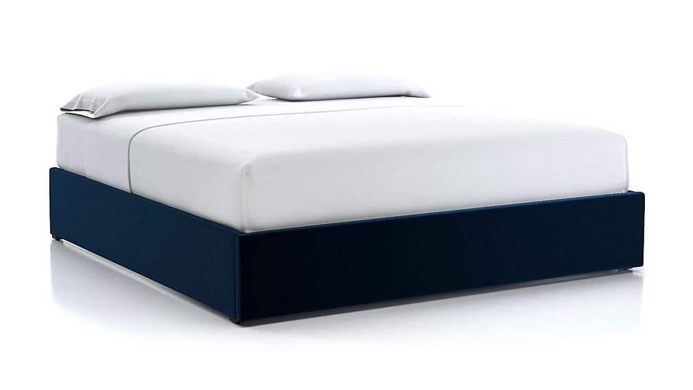 King Upholstered Gas-Lift Storage Bed Base Midnight - Image 1 of 5