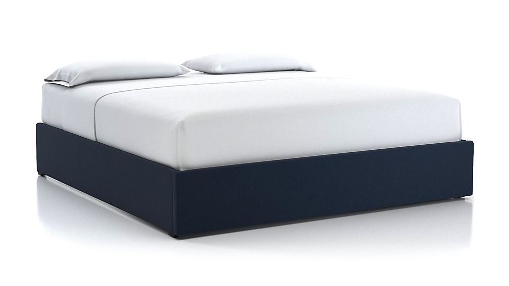 King Upholstered Gas-Lift Storage Bed Base Sapphire - Image 1 of 5