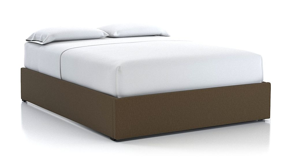 Queen Upholstered Gas-Lift Storage Bed Base Bark - Image 1 of 5
