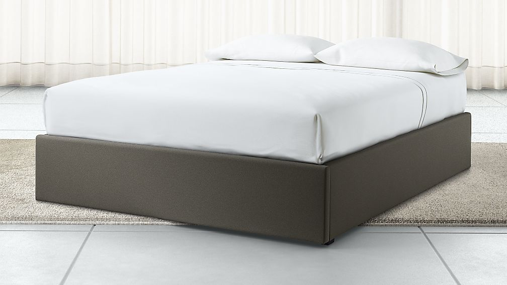 Queen Upholstered Gas-Lift Storage Bed Base Carbon - Image 1 of 6