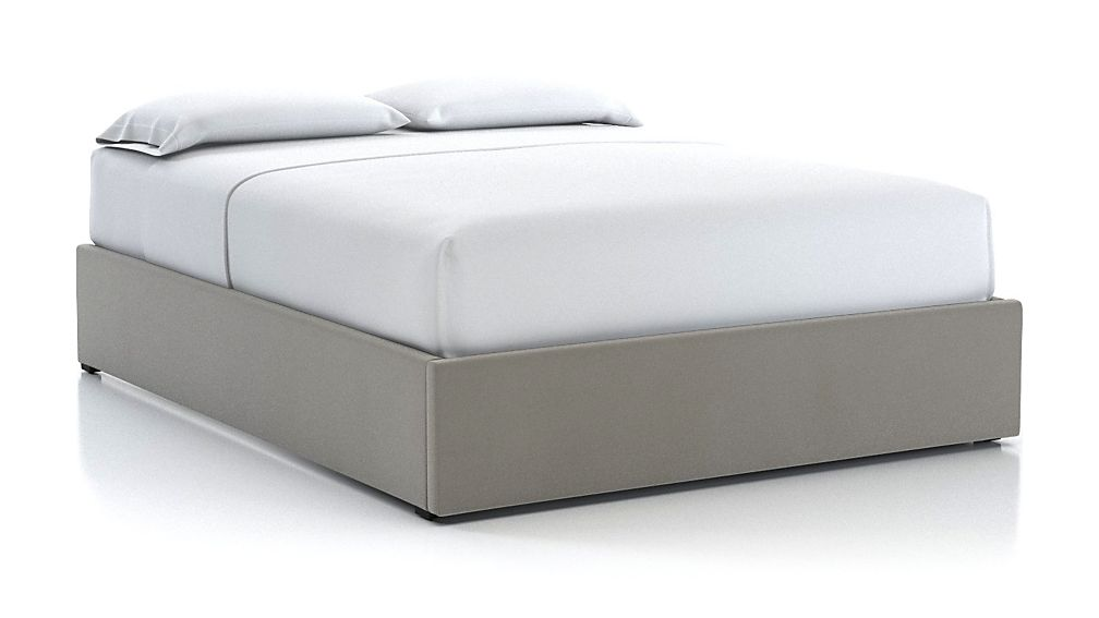 Queen Upholstered Gas-Lift Storage Bed Base Dove - Image 1 of 5