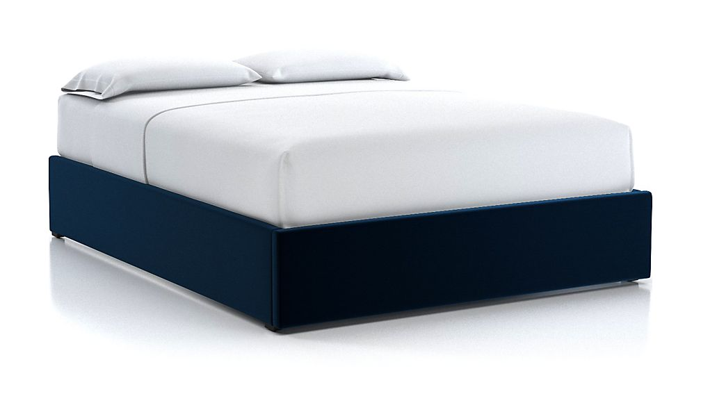 Queen Upholstered Gas-Lift Storage Bed Base Midnight - Image 1 of 5