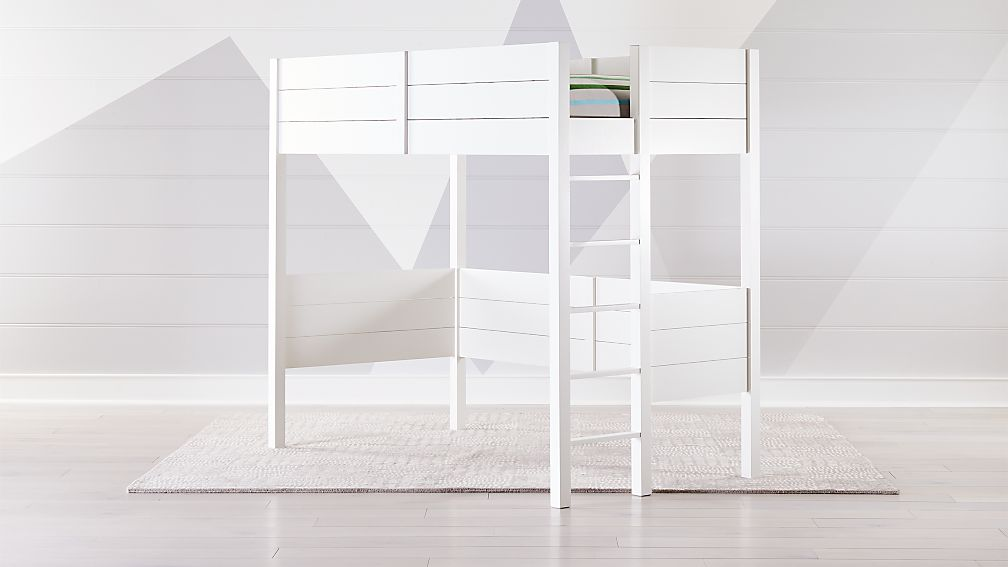 Parke White Twin Loft Bed Reviews Crate And Barrel