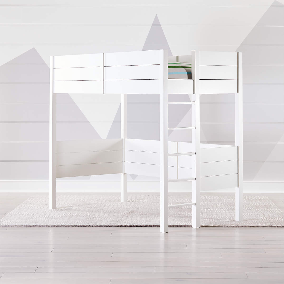 Picture of: Parke White Loft Bed Crate And Barrel