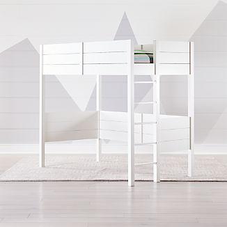 Parke White Twin Loft Bed