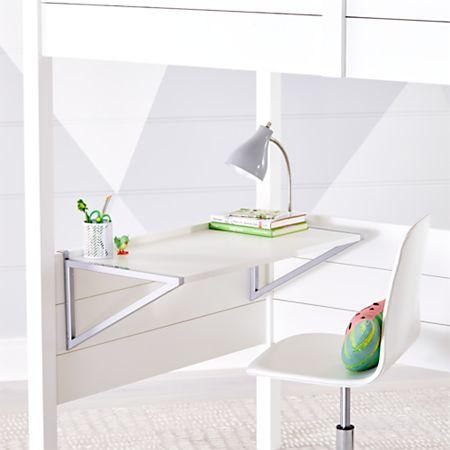 Kids Parke White Loft Bed Desk