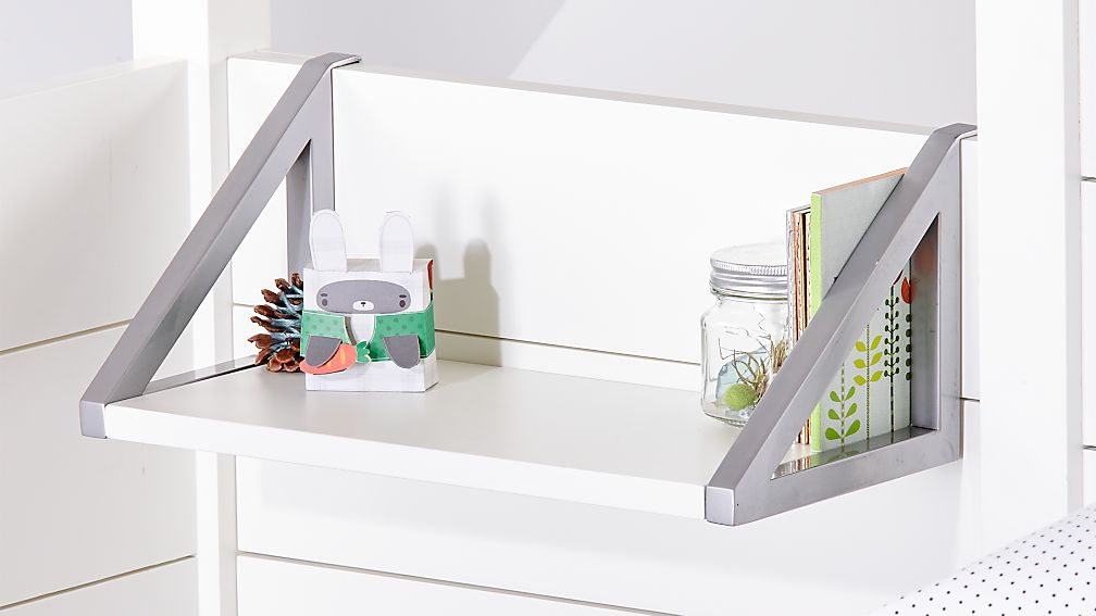 Parke White Loft Bed Shelf Reviews
